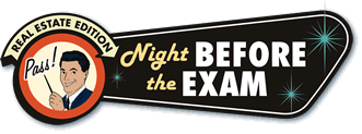 real estate practice exam: night before the exam