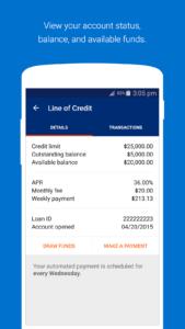OnDeck business line of credit mobile app