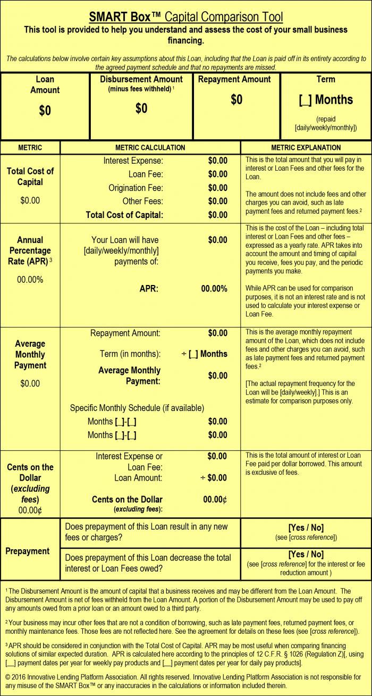 smart box capital comparison tool example