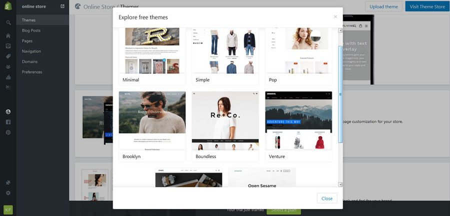 Ecommerce platforms review - Shopify themes