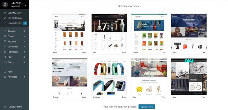 Ecommerce platforms review - Zoey themes
