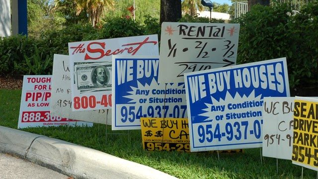 bandit signs... everywhere