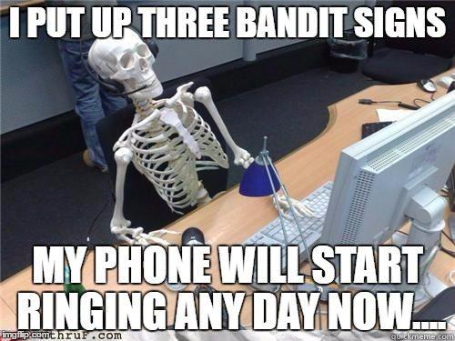 bandit signs article- le meme