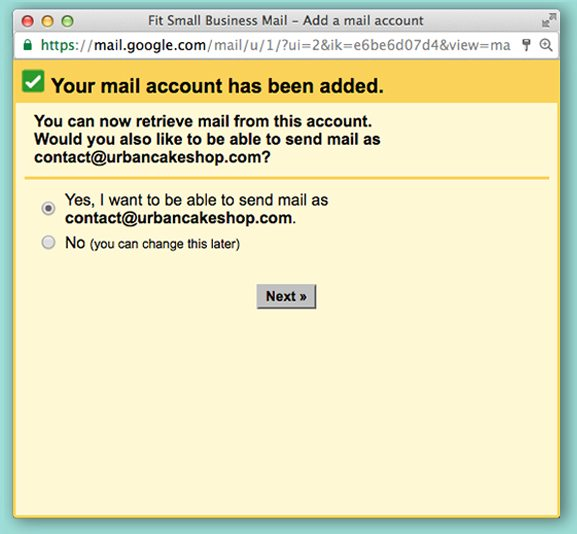 create email - account added