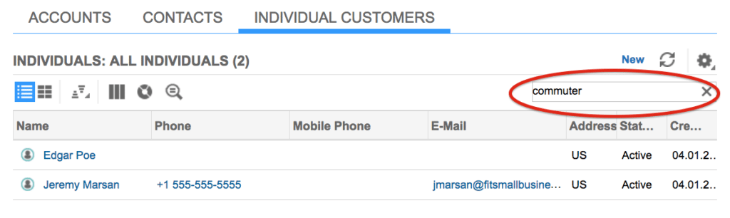SAP CRM customer profile