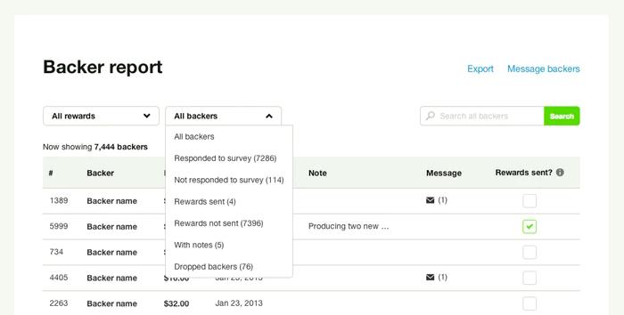 best crowdfunding site kickstarter backer report