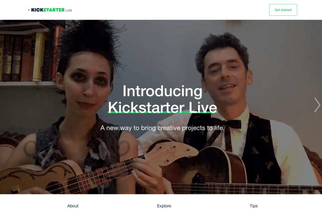 best crowdfunding site kickstarter live