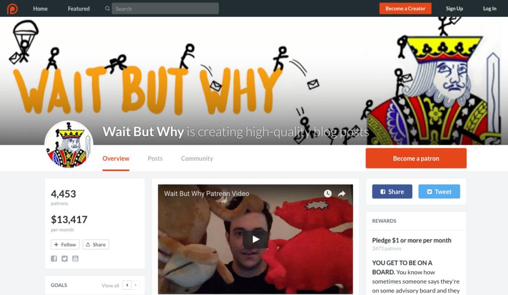 best crowdfunding site patreon example