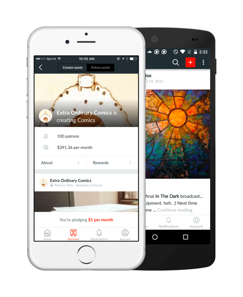 best crowdfunding site patreon mobile app