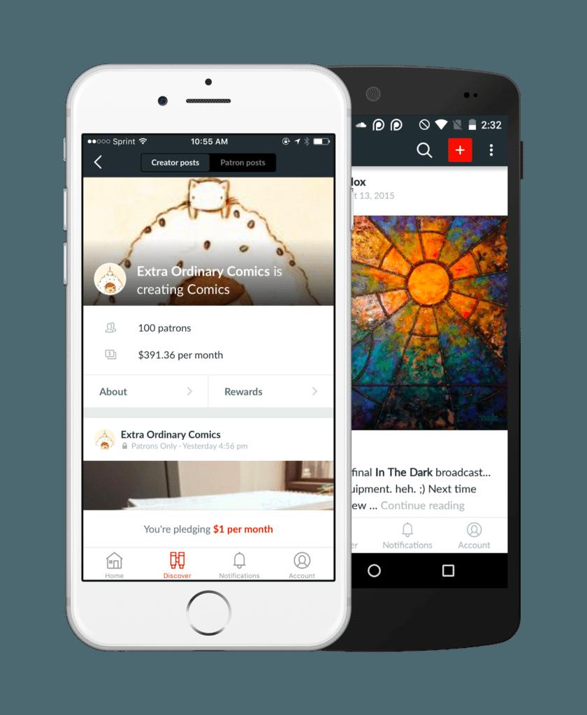 best crowdfunding site patreon mobile app