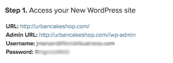 how to start a blog access wordpress site