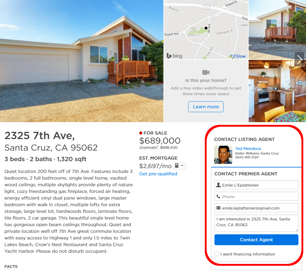 zillow premier agent screenshot