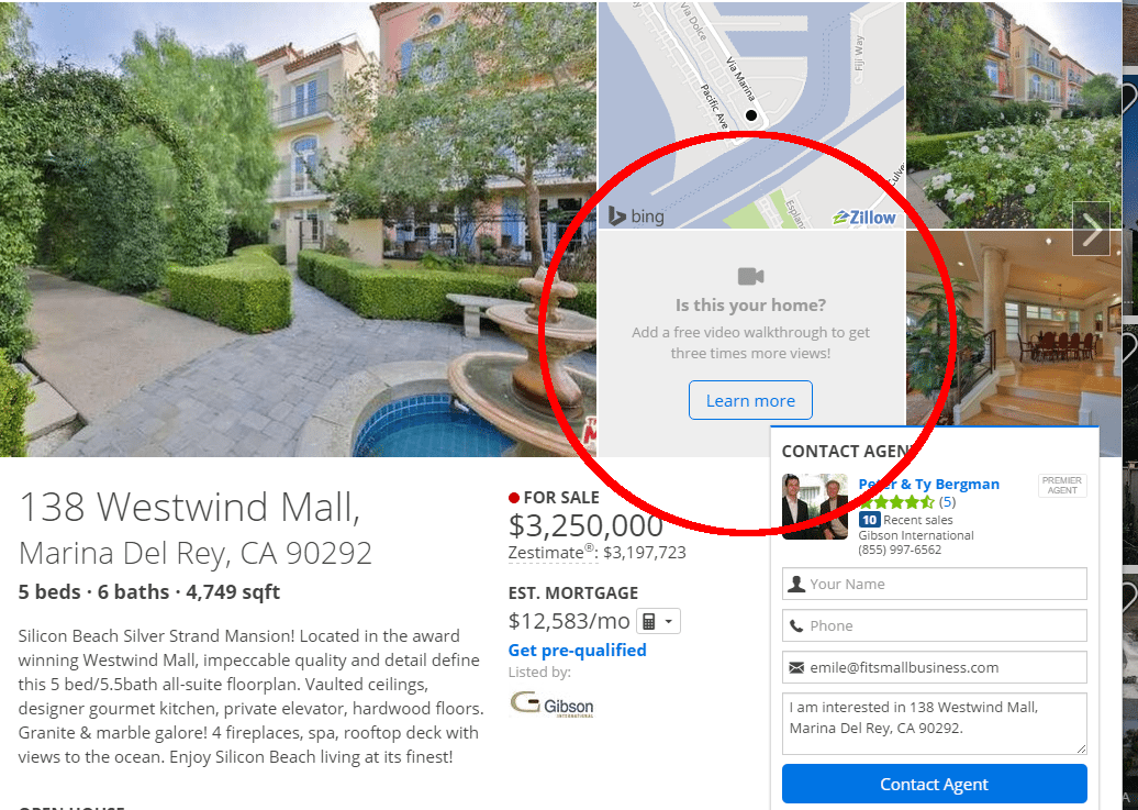 zillow listing without video