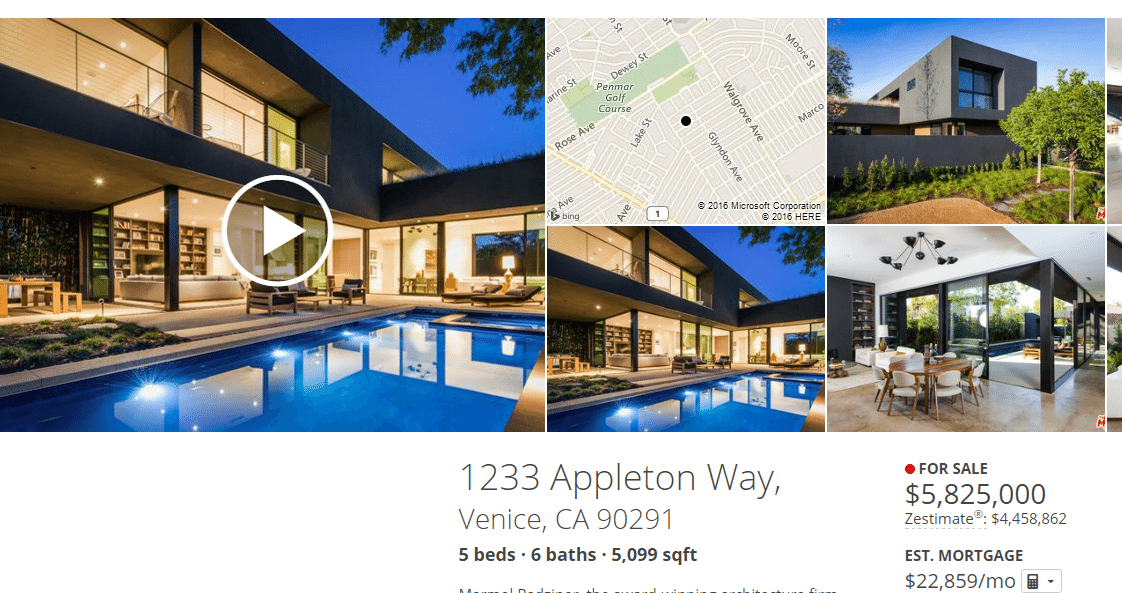 zillow listing with video