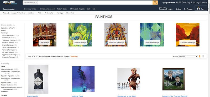 How to Sell Art Online - Amazon