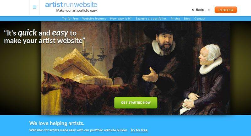 How to Sell Art Online - Artist Run Website