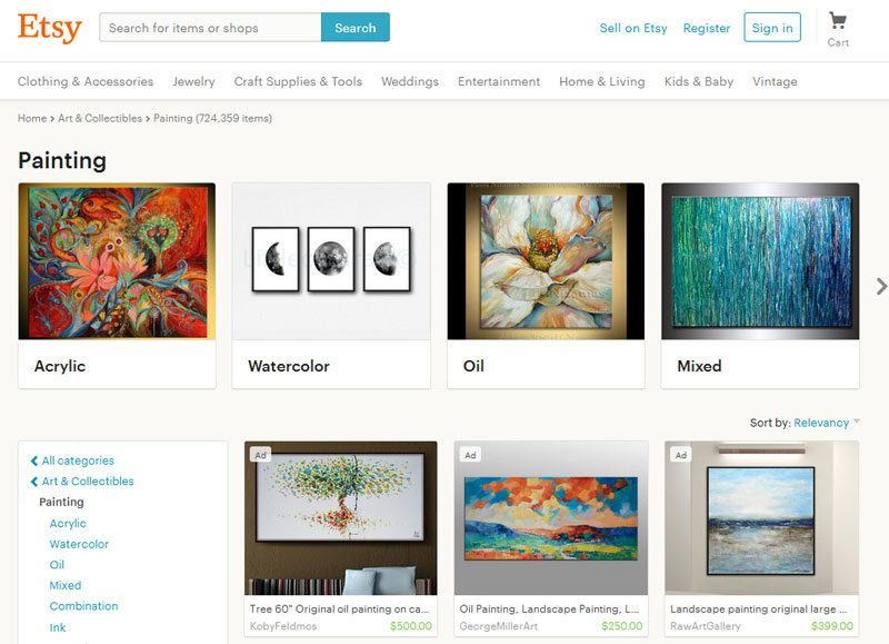 How to Sell Art Online - Etsy