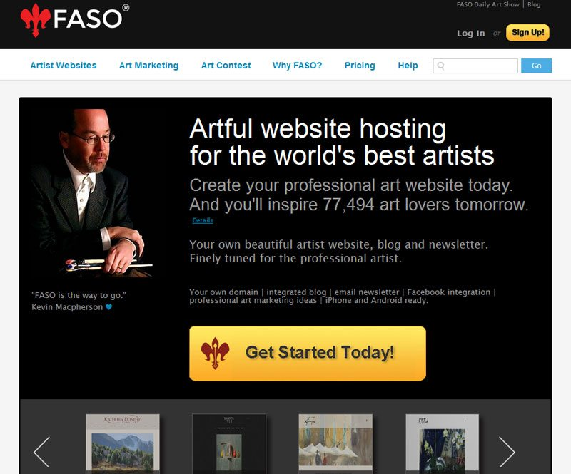 How to Sell Art Online - Faso