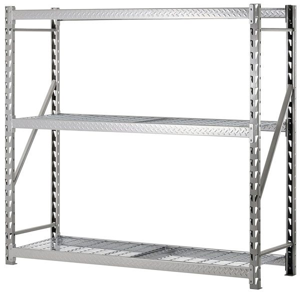 Warehouse Layout - heavy duty metal shelving