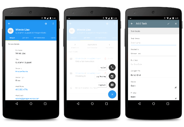 Mobile CRM - ProsperWorks on Smartphone