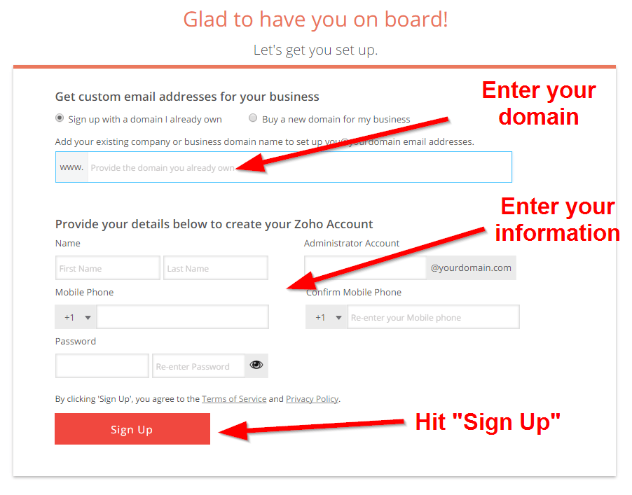 How do I set up my own email address?