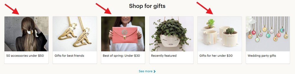 How to sell on Etsy - hot sections