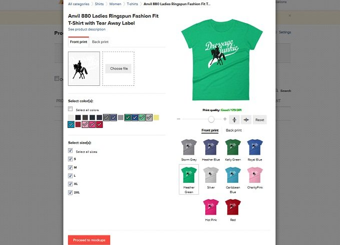 How to start a t-shirt business - design t-shirt in Printful