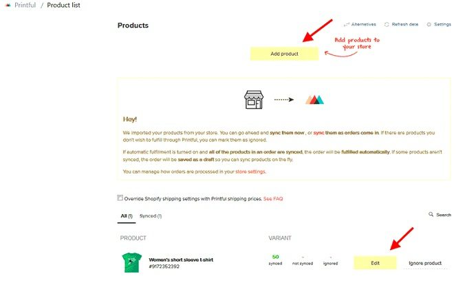 How to start a t-shirt business - edit t-shirt listing in Shopify