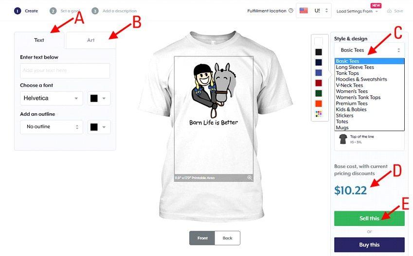 How to start a t-shirt business - TeeSpring design t-shirt