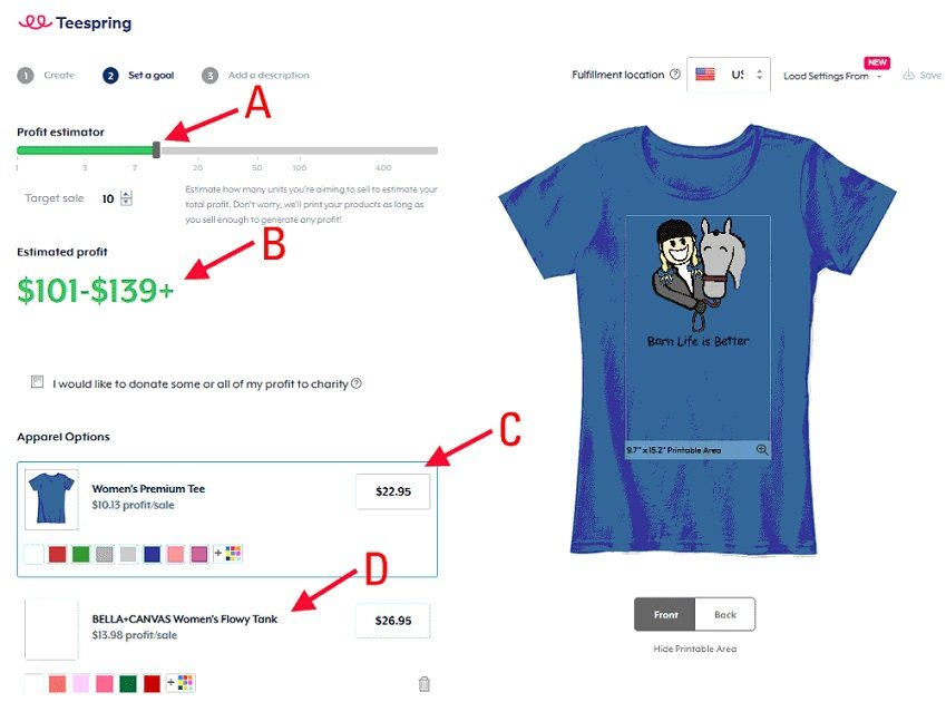 How to start a t-shirt business - TeeSpring create t-shirt campaign