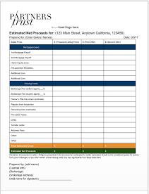 seller's net sheet template
