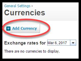 multi currency in xero