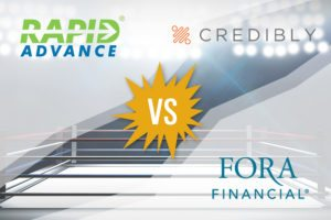 Best Merchant Cash Advance Providers 2017: RapidAdvance vs. Credibly vs. Fora Financial
