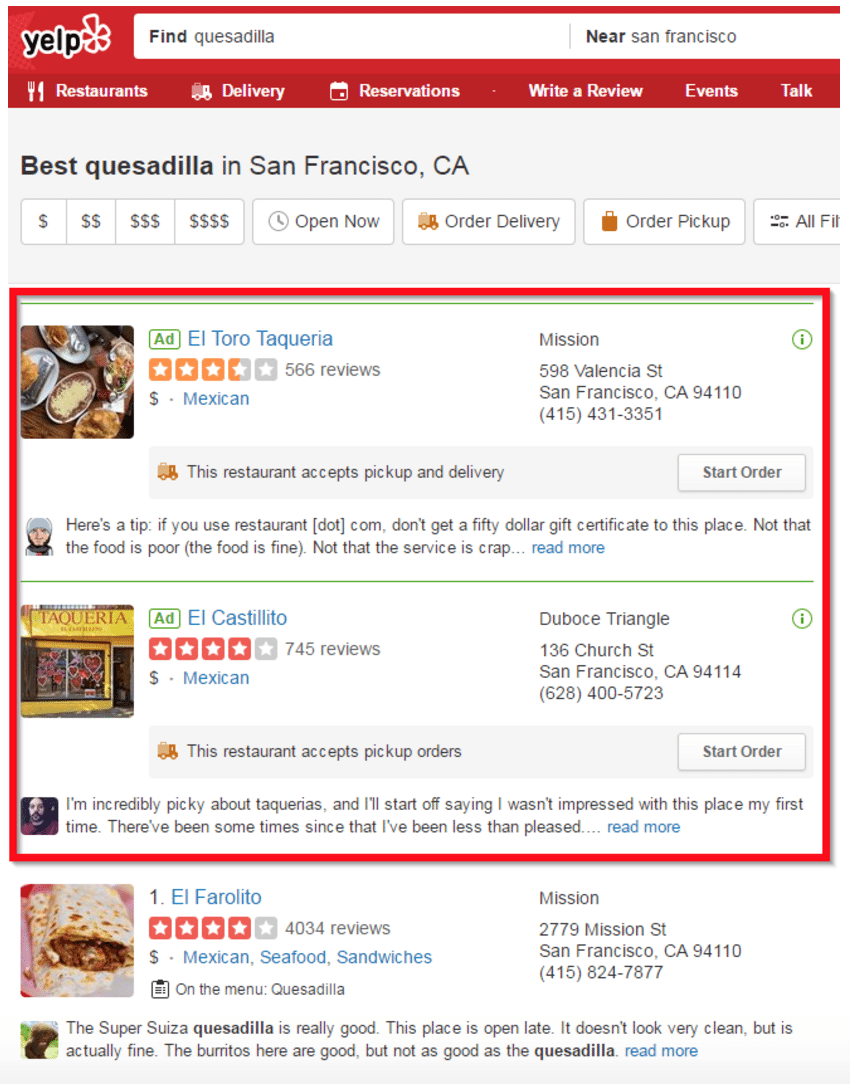 page reviews
