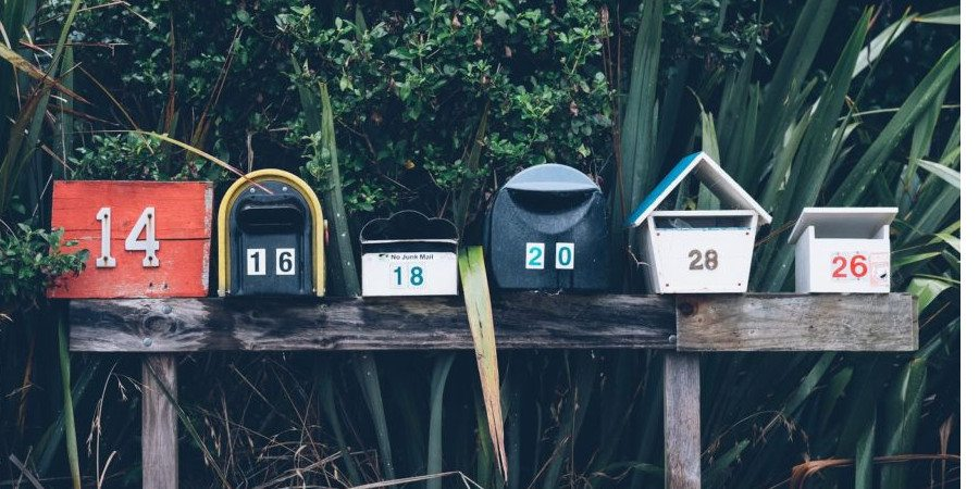 yellow letters article mailboxes