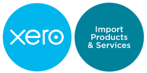 import products and services xero
