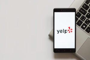 Yelp logo on Phone Screen
