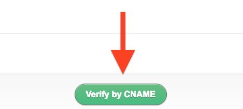 free business email address: Verify by CNAME