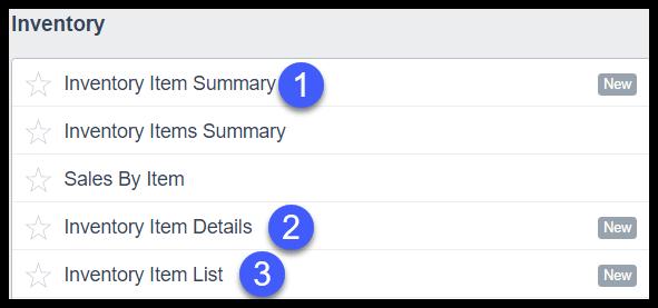 Inventory Reports in Xero