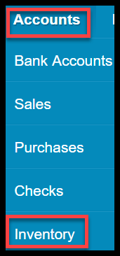 products and services in xero