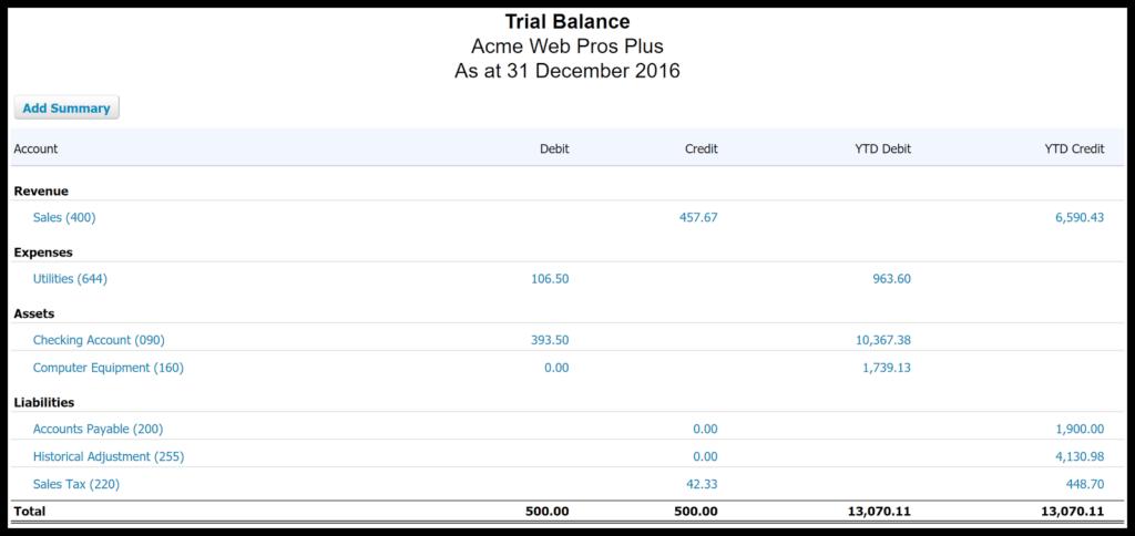 set up account balances in xero