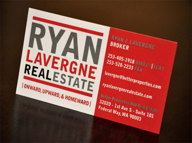 Ryan Lavergne Real Estate - Real Estate Business Cards