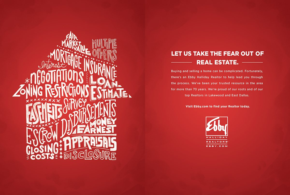 real estate ads article: Ebby Halliday ad