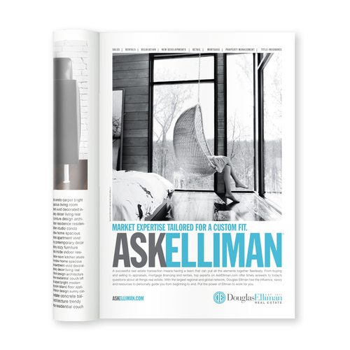 real estate ads article: Ask Elliman Magazine ad
