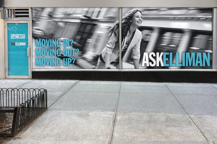 real estate ads article: Douglass Elliman Ask Elliman billboard