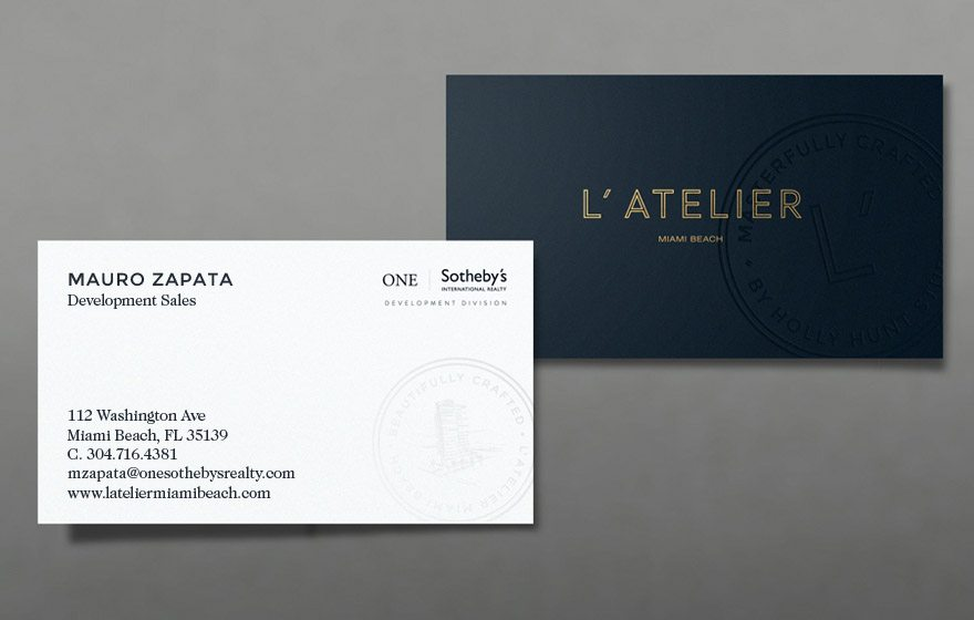 27 real estate business cards we love for Business development titles for business cards