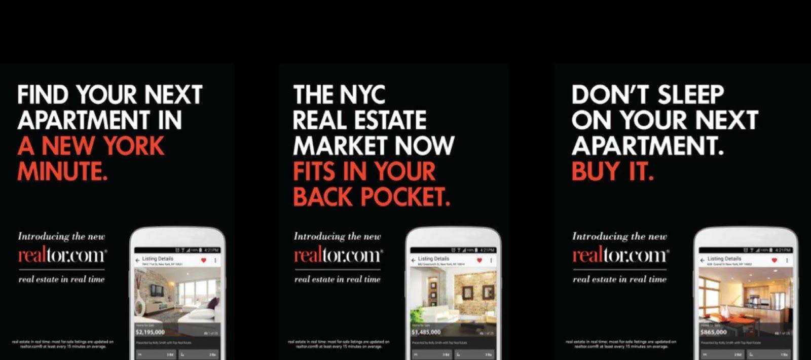 Realtor.com New York City Campaign - real estate ads