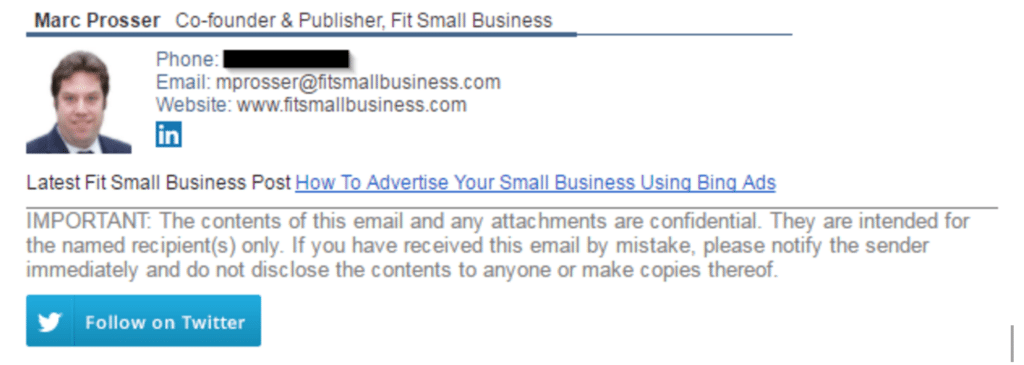 a new example signature template using the business email signature