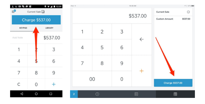 Square POS: Charge Amount