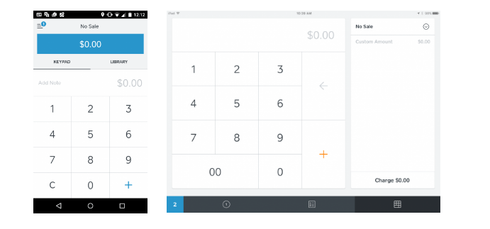 Square POS: Input sale amount